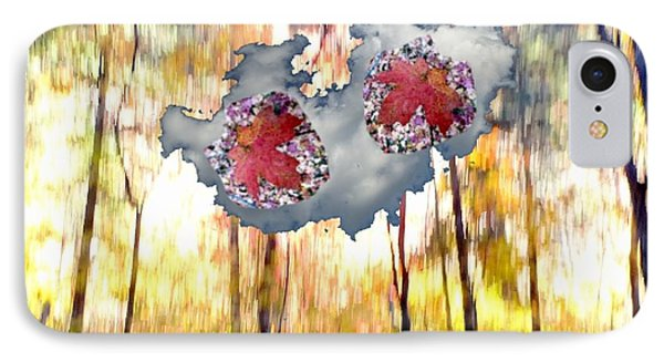 Abstract West Fork Autumn Bell Rock Heart Cloud IPhone Case by Marlene Rose Besso