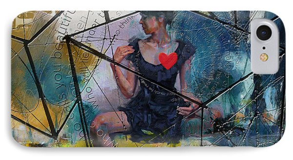 Abstract Woman 002 IPhone Case by Corporate Art Task Force
