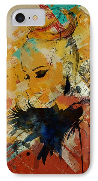 Abstract Women 010 IPhone Case by Corporate Art Task Force