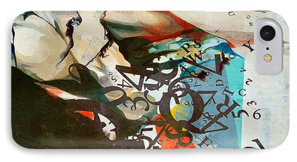 Abstract Women 025 IPhone Case by Corporate Art Task Force