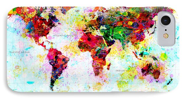 Abstract World Map IPhone Case