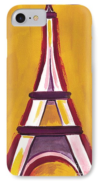 Abstract Yellow Red Eiffel Tower IPhone Case