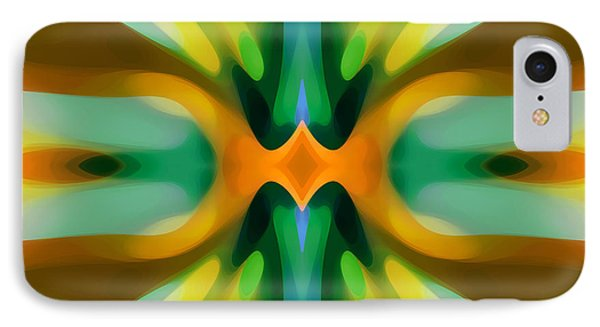 Abstract Yellowtree Symmetry IPhone Case by Amy Vangsgard