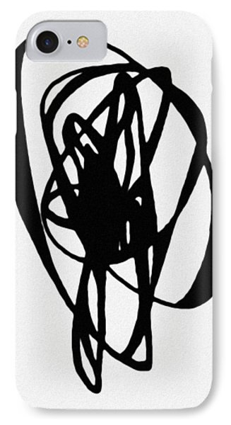IPhone Case featuring the painting Astratto - Abstract 19 by Ze  Di