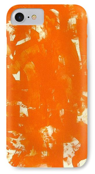 Abstraction In Orange Phone Case by Venus