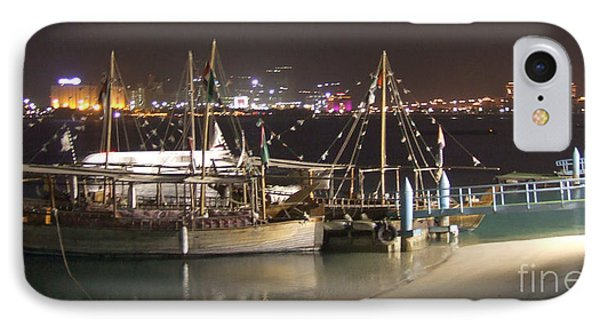 Abu Dhabi At Night IPhone Case by Andrea Anderegg