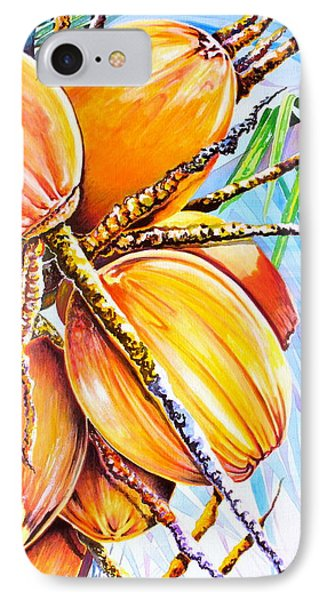 IPhone Case featuring the painting Abundance by Julie  Hoyle