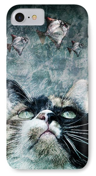 Abyss Cat Nr 2 Phone Case by Laura Melis