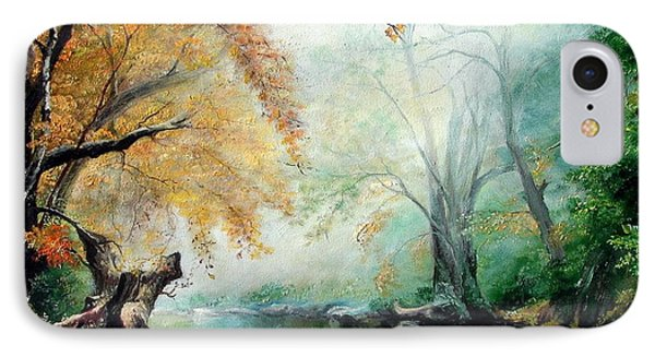 IPhone Case featuring the painting Abyss by Sorin Apostolescu