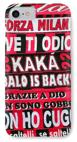 Ac Milan Fans Scarves  IPhone Case by Valentino Visentini