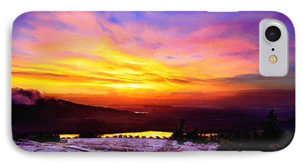Acadia National Park Cadillac Mountain Sunrise Forsale IPhone Case by Bob and Nadine Johnston