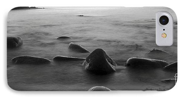Acadia National Park Shoreline Sunrise Wakeup Black And White IPhone Case