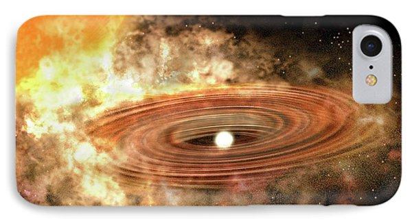 Accretion Disk Around Binary Star System IPhone Case