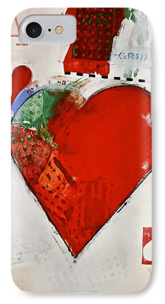 Ace Of Hearts 8-52 IPhone Case by Cliff Spohn
