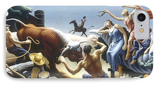 Achelous And Hercules IPhone Case by Thomas Benton