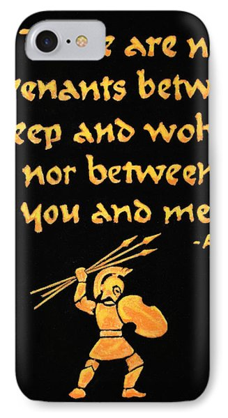 Achilles Admonition IPhone Case