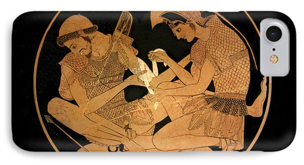 Achilles Binds The Wounds Of Patroklos IPhone Case