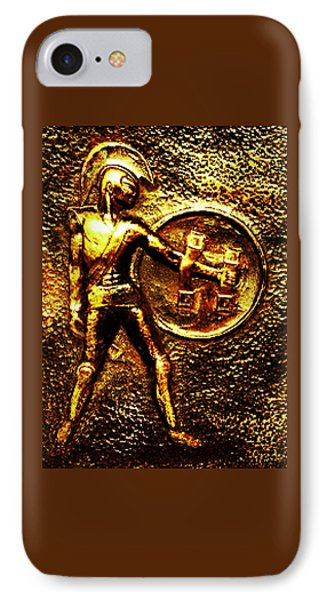 IPhone Case featuring the sculpture Achilles by Hartmut Jager