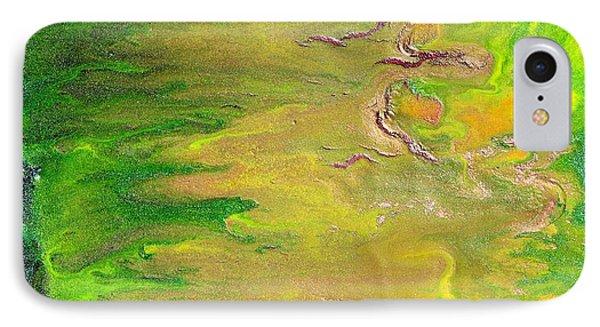 Acid Green Abstract Phone Case by Julia Apostolova