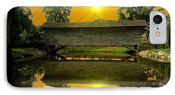 Ackley Covered Bridge IPhone Case by Michael Rucker