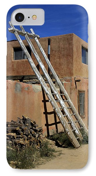 Acoma Pueblo Adobe Homes 3 IPhone Case by Mike McGlothlen