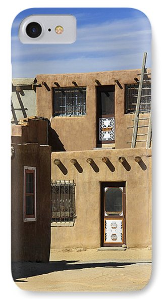 Acoma Pueblo Adobe Homes IPhone Case by Mike McGlothlen