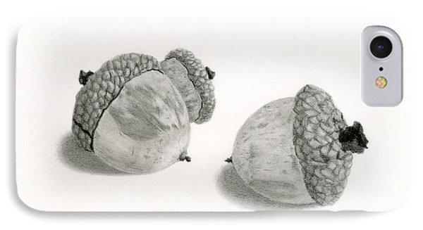 Squirrel iPhone 7 Case - Acorns- Black And White by Sarah Batalka