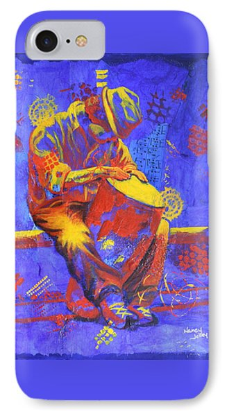 IPhone Case featuring the painting Acoustic Blues by Nancy Jolley