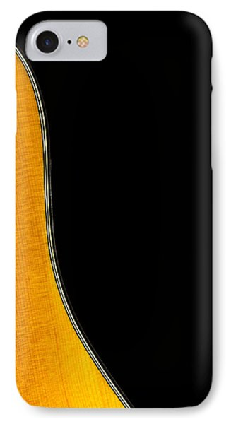 Acoustic Curve In Black Phone Case by Bob Orsillo
