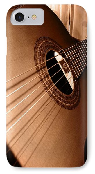 Acoustic Guitar IPhone Case by Ester  Rogers