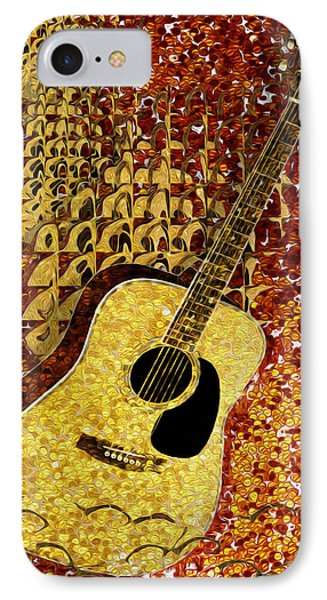 Acoustic Guitar Phone Case by Jack Zulli