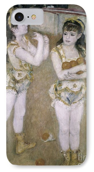 Acrobats At The Cirque Fernand IPhone Case by Pierre Auguste Renoir