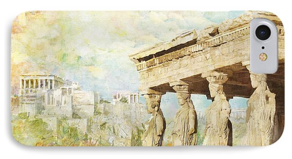 Acropolis Of Athens Phone Case by Catf