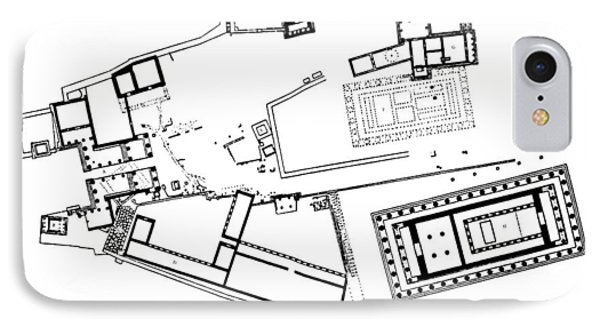 Acropolis Plan IPhone Case