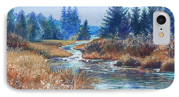 Across The Brook IPhone Case by Joy Nichols