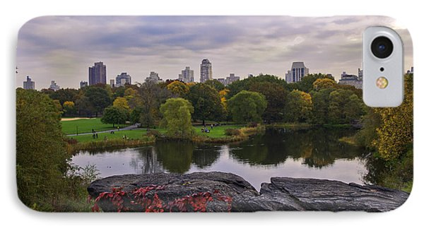 Across The Pond 2 - Central Park - Nyc IPhone Case by Madeline Ellis