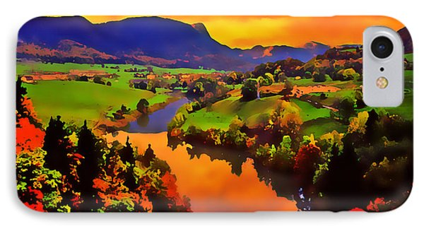 Across The Valley Phone Case by Stephen Anderson