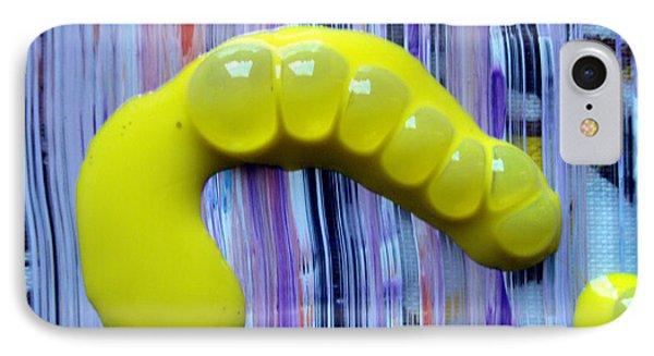 Acrylic Caterpillar Escaping My Paint Bottle Phone Case by Sir Josef - Social Critic -  Maha Art