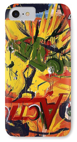 Action Abstraction No. 1 Phone Case by David Leblanc