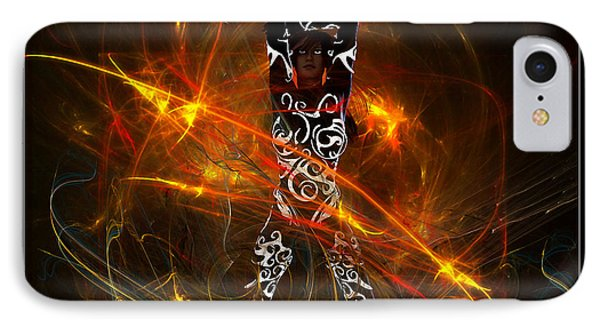 IPhone Case featuring the digital art Activated... by Tim Fillingim