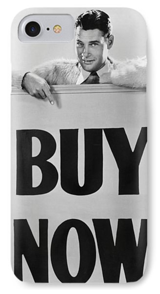 Actor Says buy Now IPhone Case by Underwood Archives