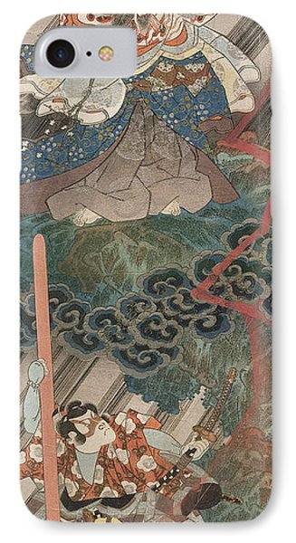 Actors Ichikawa Danjuro Vii As Kan Shojo Phone Case by Utagawa Kunisada