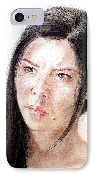 Actress And Beauty Jeananne Goossen IPhone Case by Jim Fitzpatrick