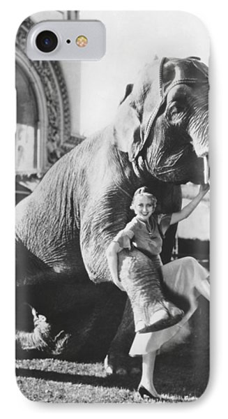 Dancing With Elephant IPhone Case by Underwood Archives