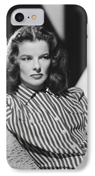 Actress Katharine Hepburn IPhone Case by Underwood Archives