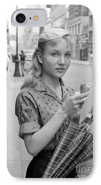 Actress Susan Oliver IPhone Case by The Harrington Collection
