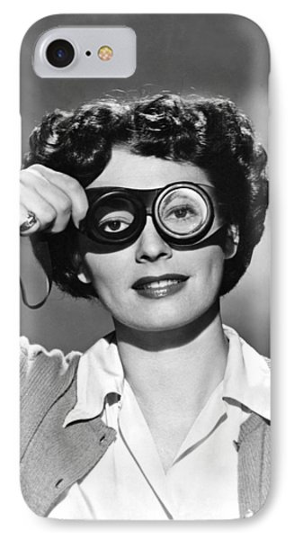 Actress With Smogoggles IPhone Case by Bert Six