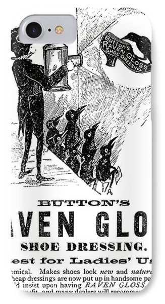 Ad Shoe Polish, 1887 IPhone Case by Granger