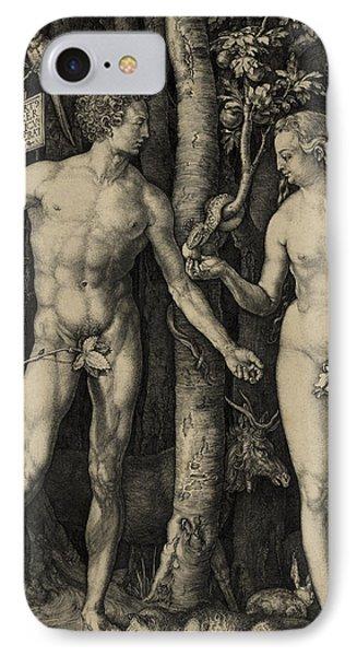 Adam And Eve In The Garden Of Eden - Albrecht Durer 1504 IPhone Case