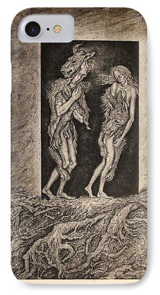 Adam And Eve Phone Case by Leonid Stroganov